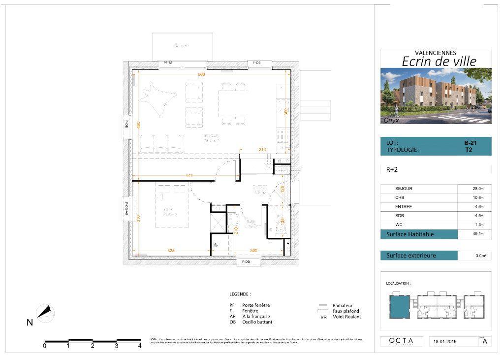 Appartement à vendre 2 49m2 à Valenciennes vignette-3