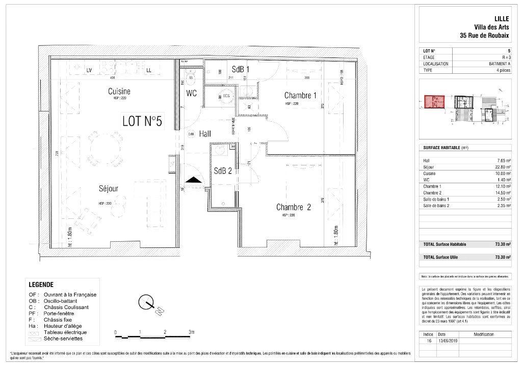 Appartement à vendre 3 73.3m2 à Lille vignette-2