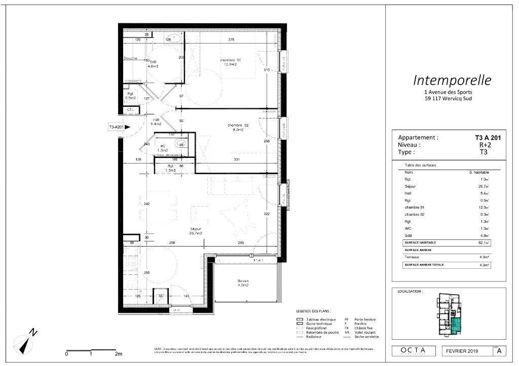 Appartement à vendre 3 62.15m2 à Wervicq-Sud vignette-4