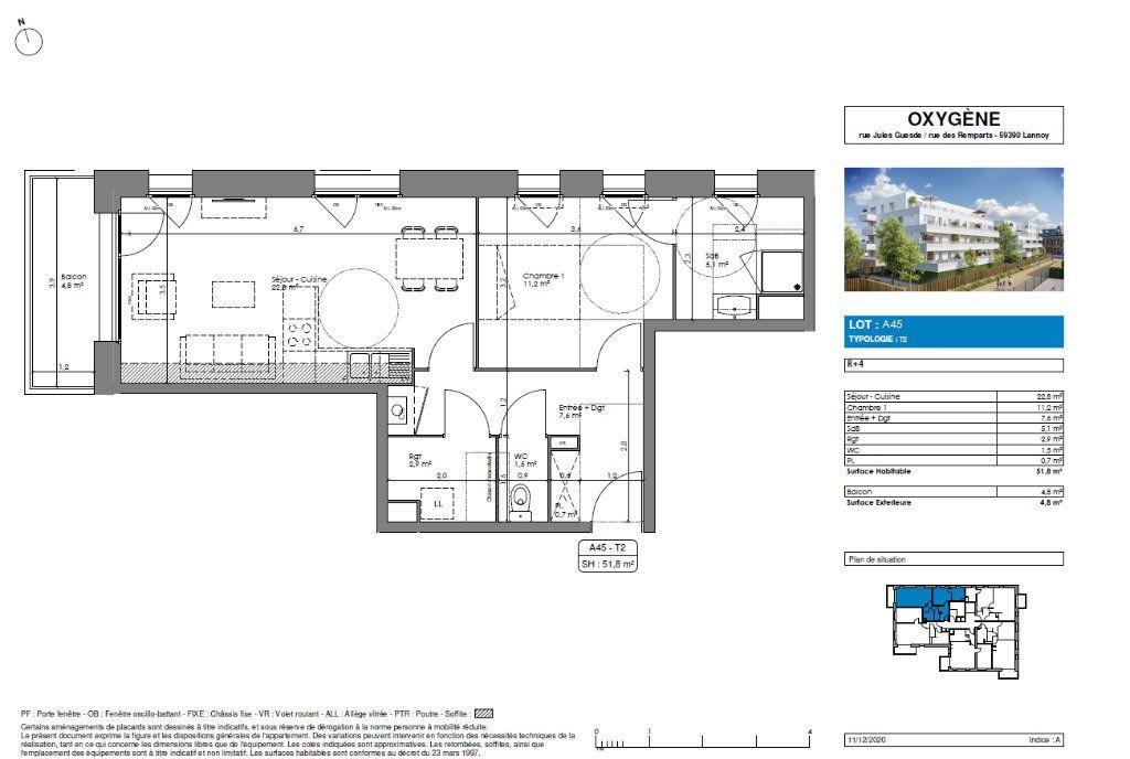 Appartement à vendre 2 51.8m2 à Lannoy vignette-3