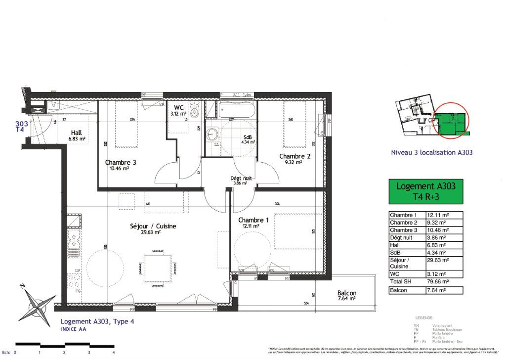 Appartement à vendre 4 79.66m2 à Lille vignette-4