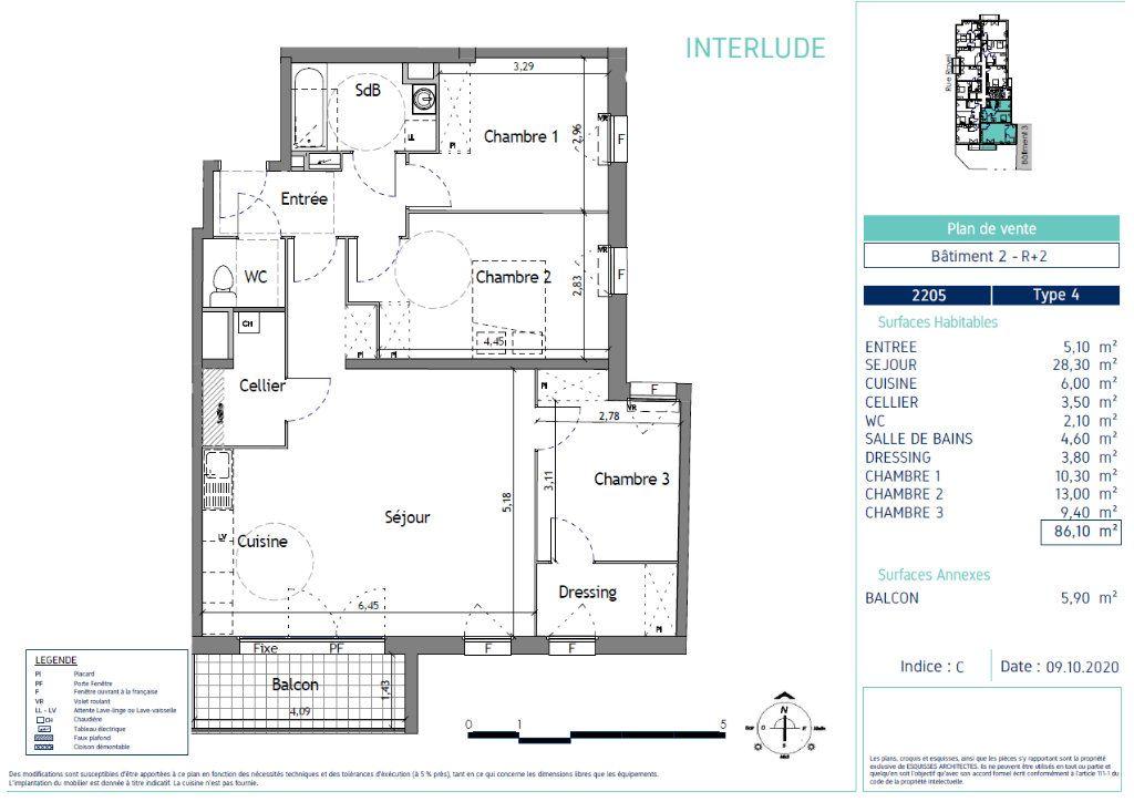Appartement à vendre 4 86.1m2 à Lille vignette-4