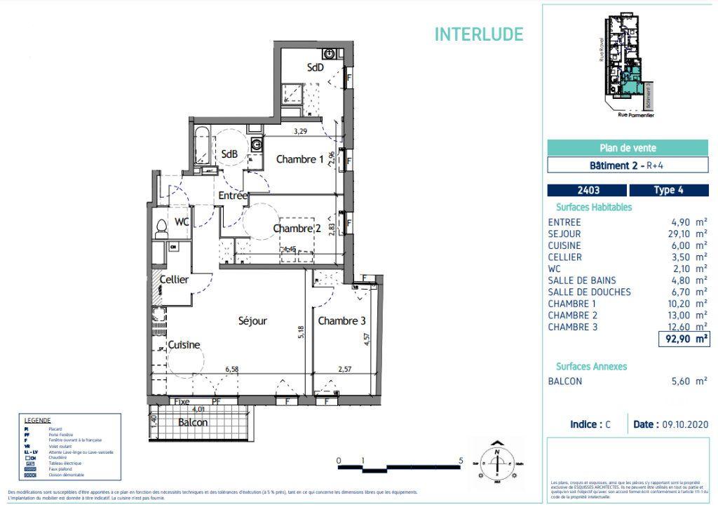 Appartement à vendre 4 92.9m2 à Lille vignette-4