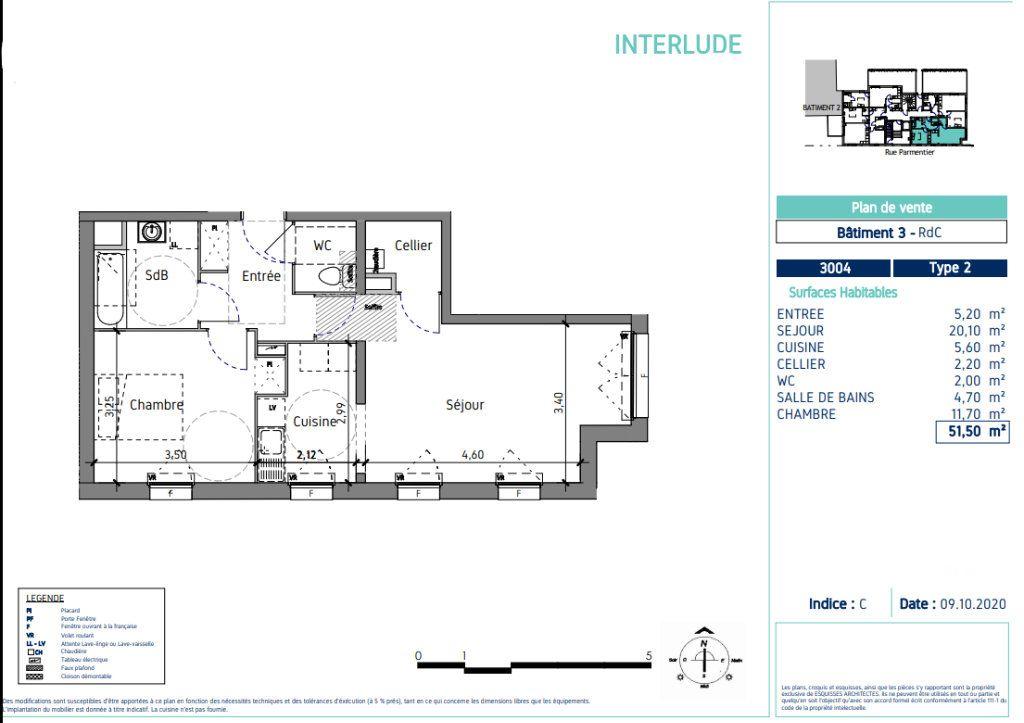 Appartement à vendre 2 51.5m2 à Lille vignette-4