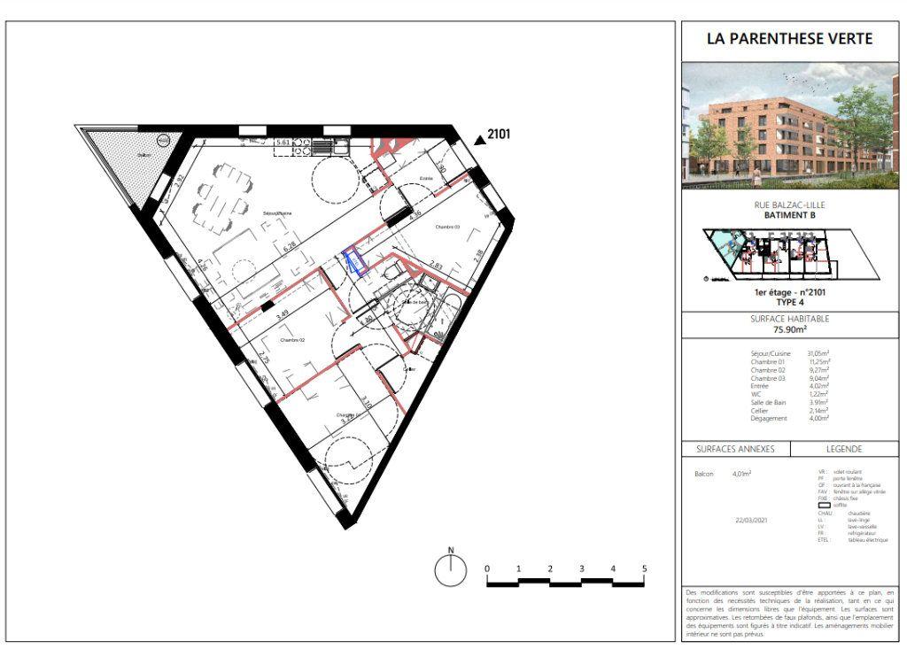 Appartement à vendre 4 75.9m2 à Lille vignette-5
