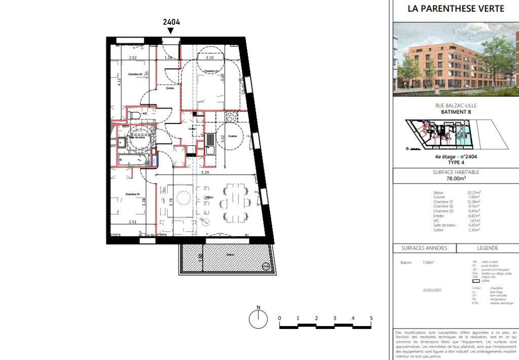Appartement à vendre 4 78.25m2 à Lille vignette-5