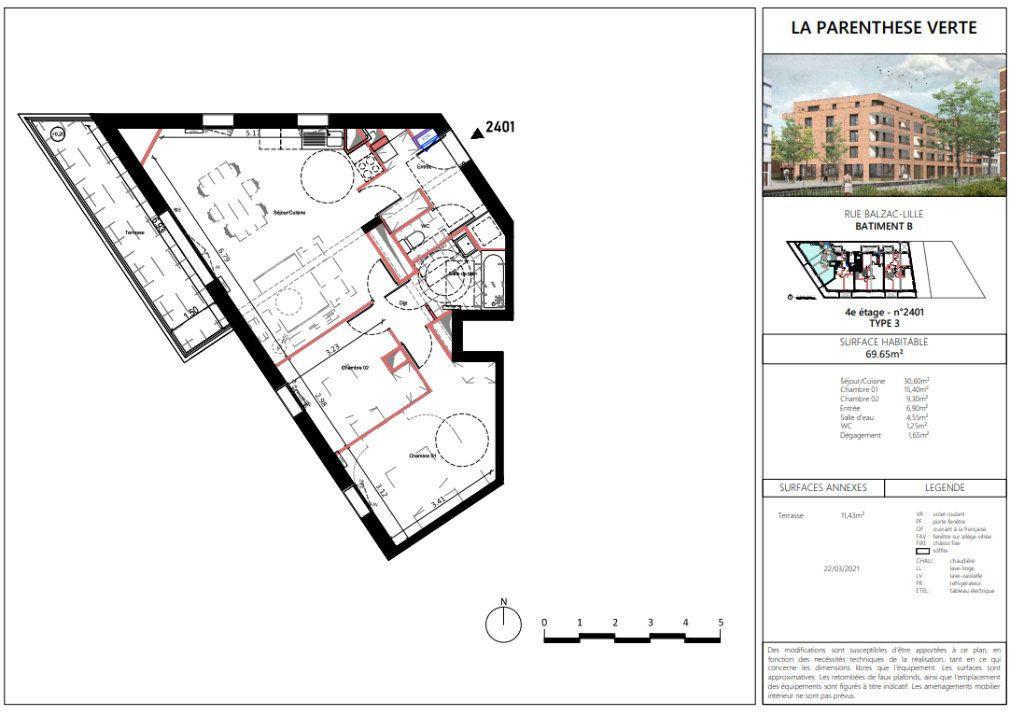 Appartement à vendre 3 70m2 à Lille vignette-5