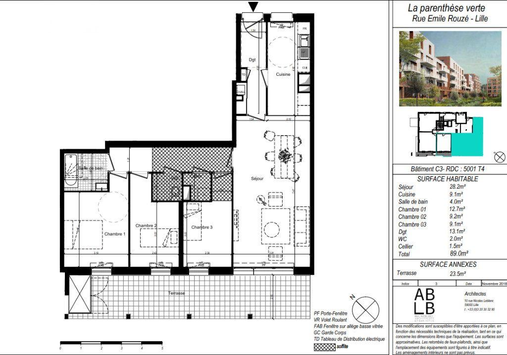 Appartement à vendre 4 89.5m2 à Lille vignette-5