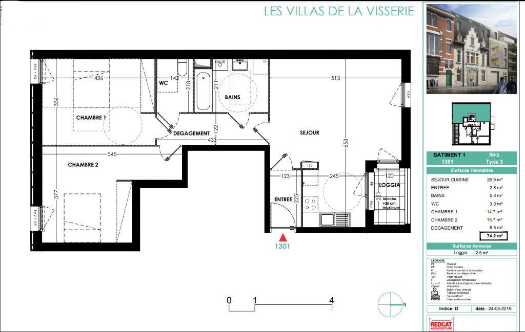 Appartement à vendre 3 74.2m2 à Lille vignette-3