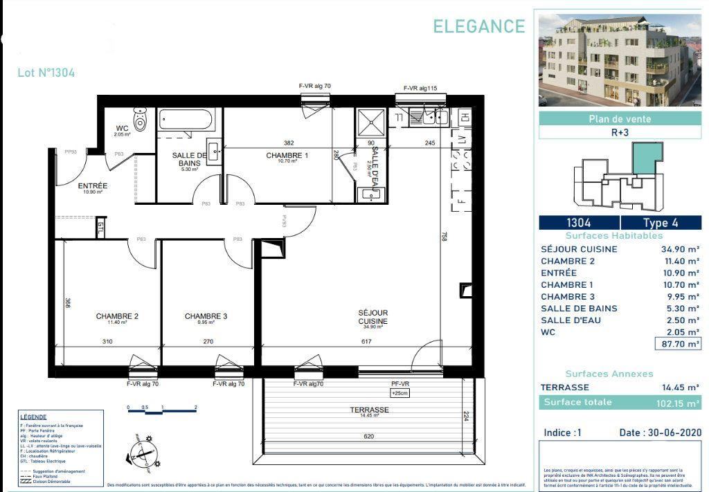 Appartement à vendre 4 86.9m2 à Marcq-en-Baroeul vignette-4
