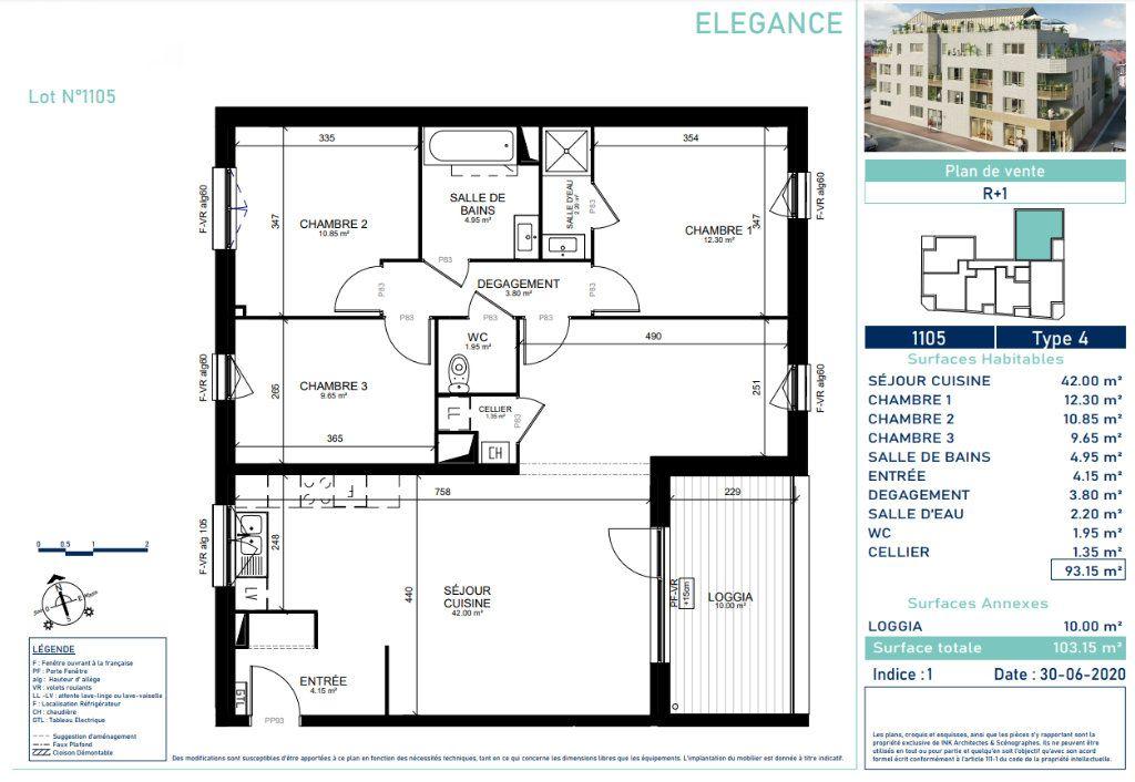 Appartement à vendre 4 92.9m2 à Marcq-en-Baroeul vignette-4