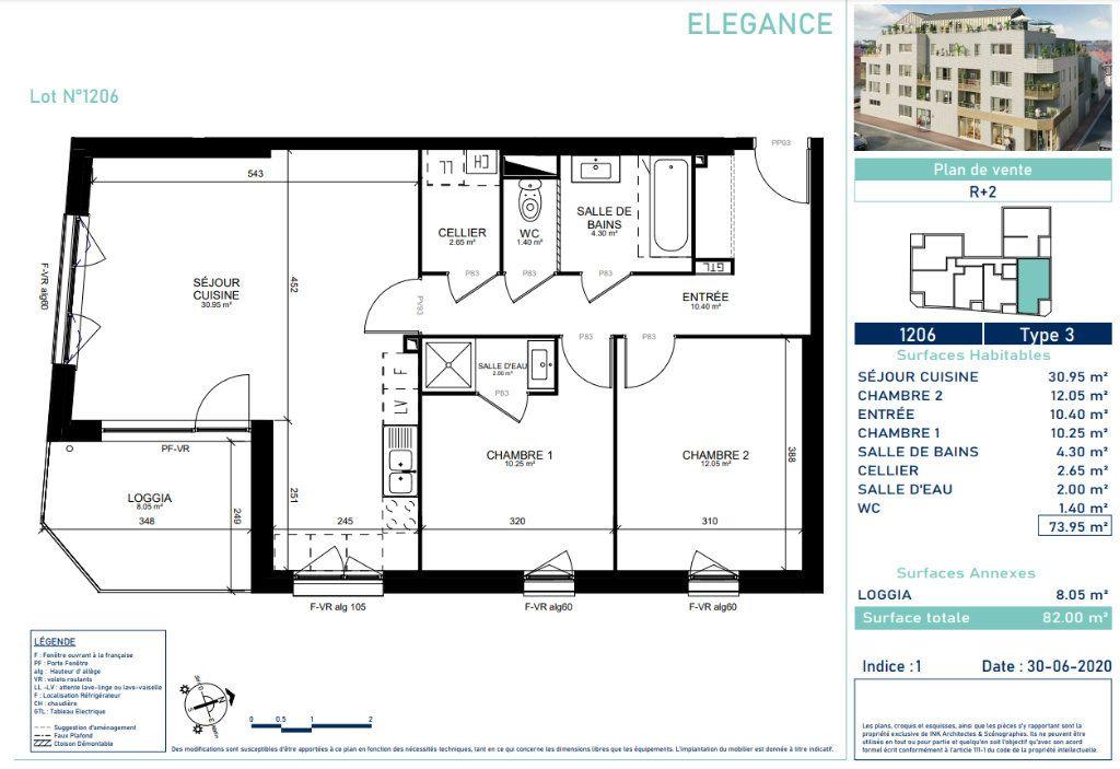 Appartement à vendre 3 73.6m2 à Marcq-en-Baroeul vignette-4