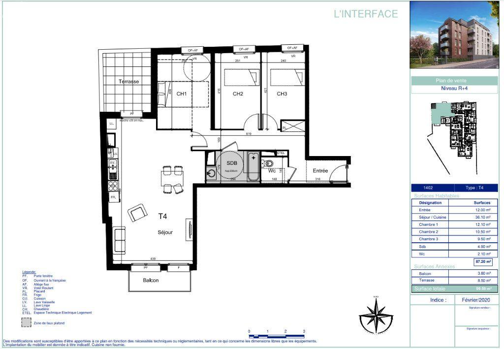 Appartement à vendre 4 87.2m2 à La Madeleine vignette-3