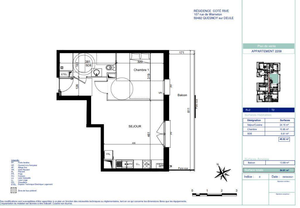 Appartement à vendre 2 40.82m2 à Quesnoy-sur-Deûle vignette-5