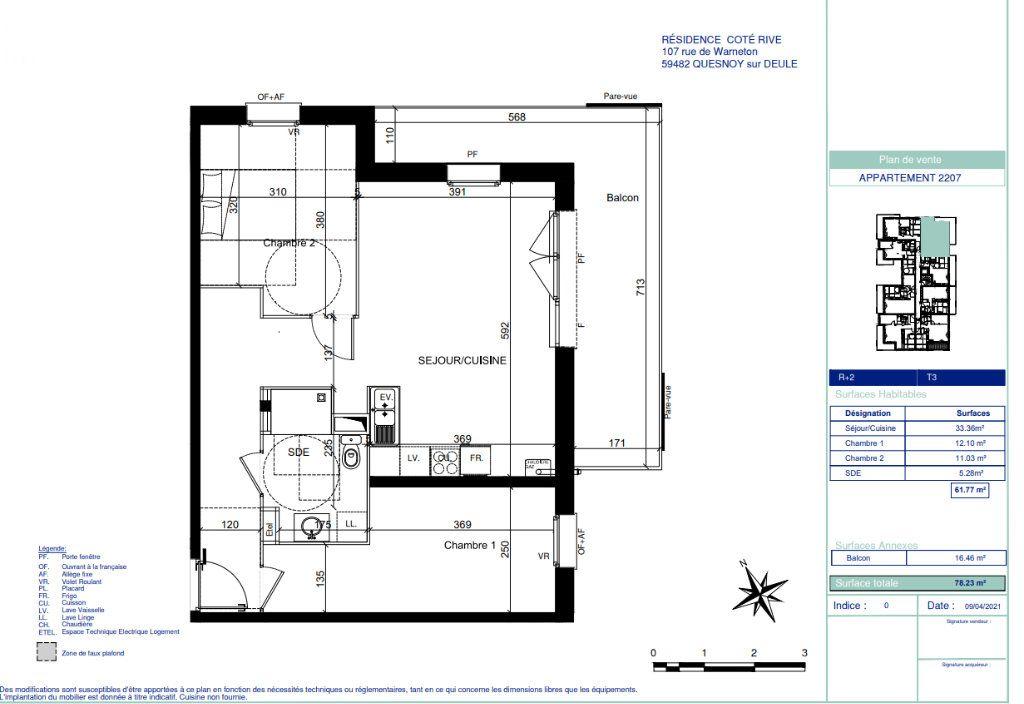 Appartement à vendre 3 61.77m2 à Quesnoy-sur-Deûle vignette-5
