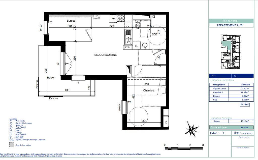 Appartement à vendre 2 51.15m2 à Quesnoy-sur-Deûle vignette-5