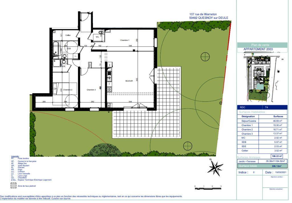 Appartement à vendre 4 106.11m2 à Quesnoy-sur-Deûle vignette-5