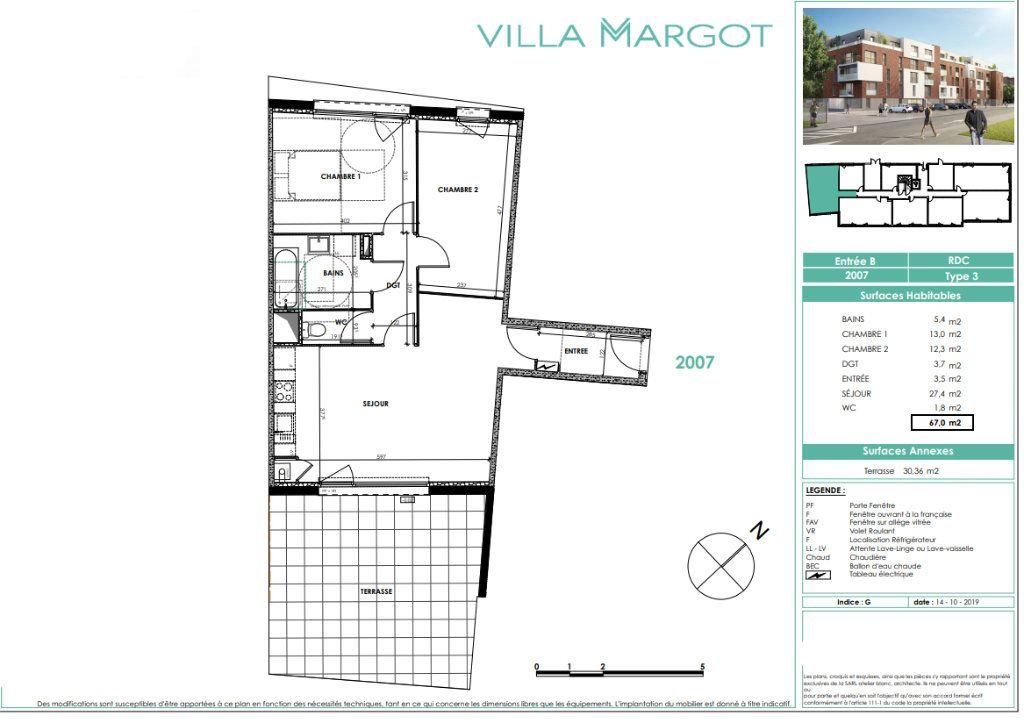 Appartement à vendre 3 67m2 à Loos vignette-3
