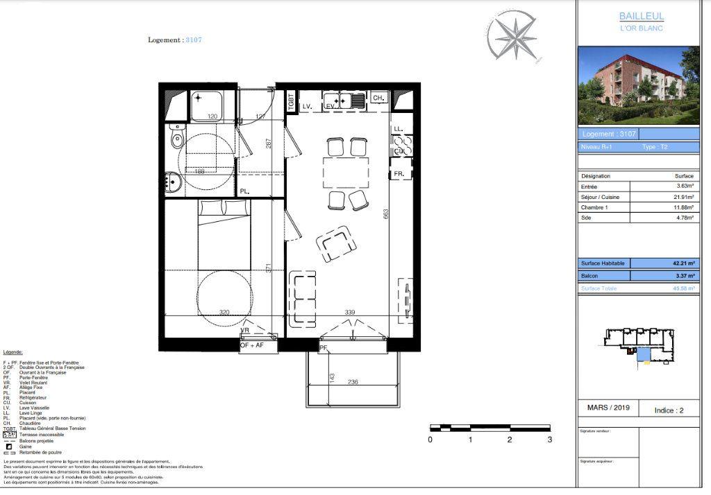Appartement à vendre 2 42.21m2 à Bailleul vignette-4