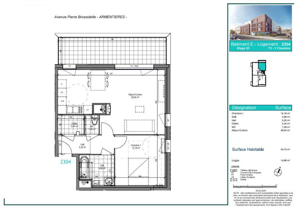 Appartement à vendre 2 54.7m2 à Armentières vignette-4