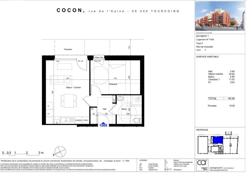 Appartement à vendre 2 40.34m2 à Tourcoing vignette-3