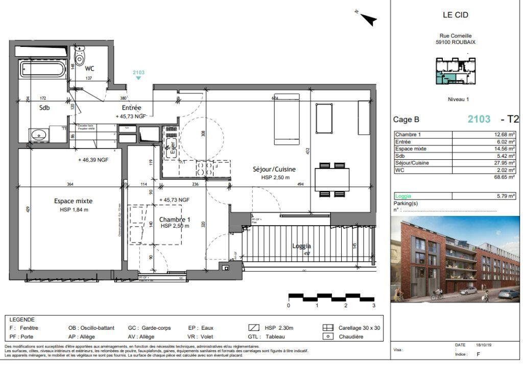 Appartement à vendre 3 68.65m2 à Roubaix vignette-3