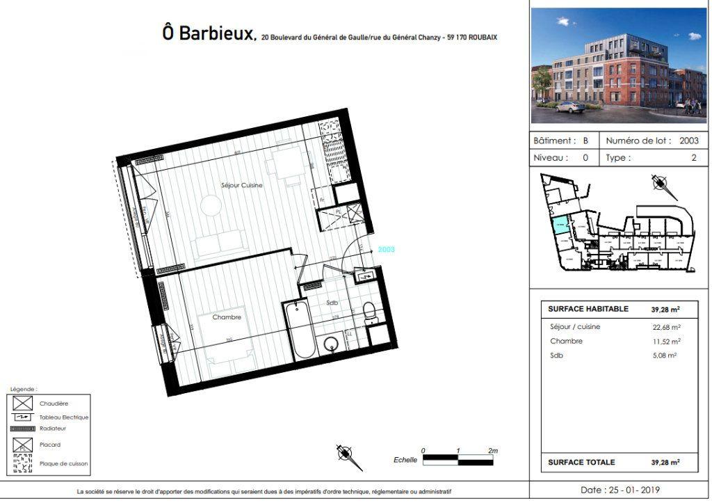 Appartement à vendre 2 39.28m2 à Roubaix vignette-4
