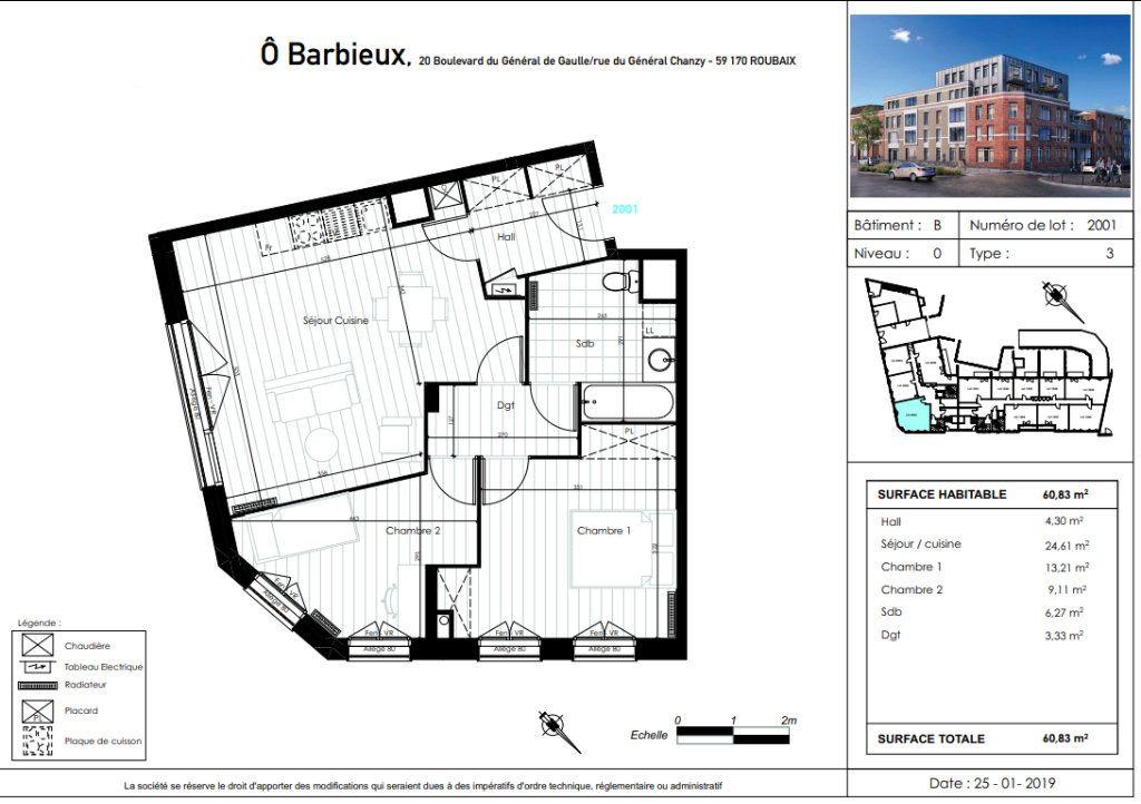 Appartement à vendre 3 60.83m2 à Roubaix vignette-4