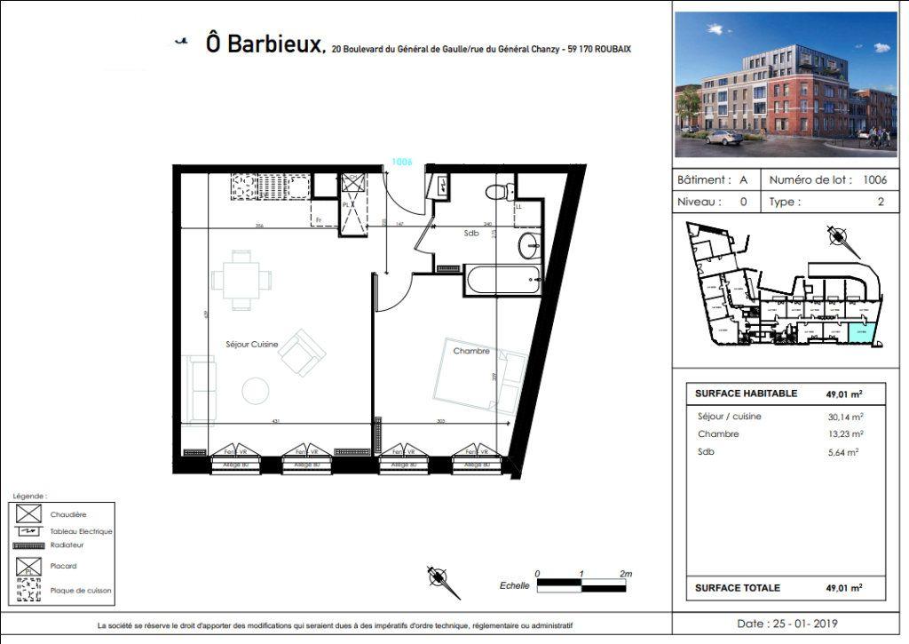Appartement à vendre 2 49.01m2 à Roubaix vignette-4
