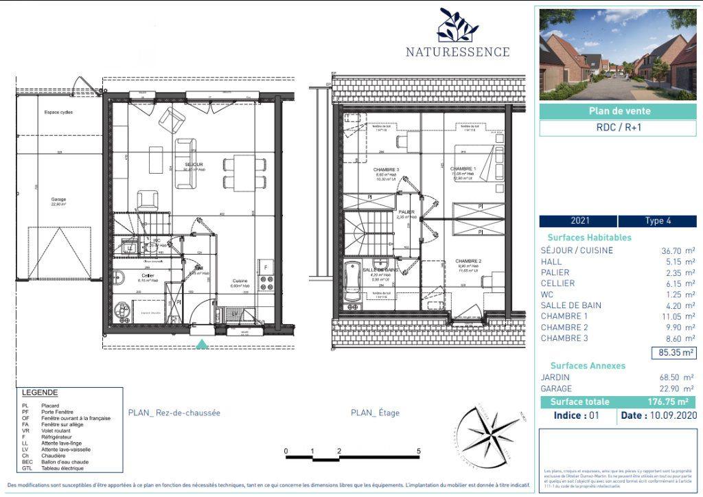 Maison à vendre 4 85.35m2 à Sainghin-en-Weppes vignette-4