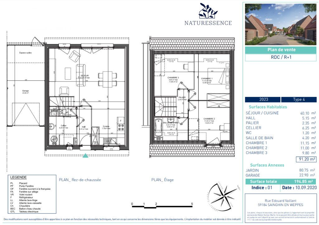 Maison à vendre 4 91.2m2 à Sainghin-en-Weppes vignette-4