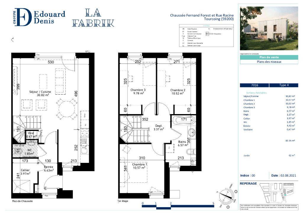 Maison à vendre 4 82.35m2 à Tourcoing vignette-6