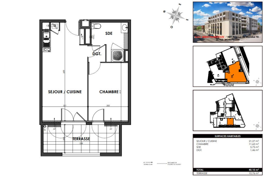 Appartement à vendre 2 40.1m2 à Nîmes vignette-3