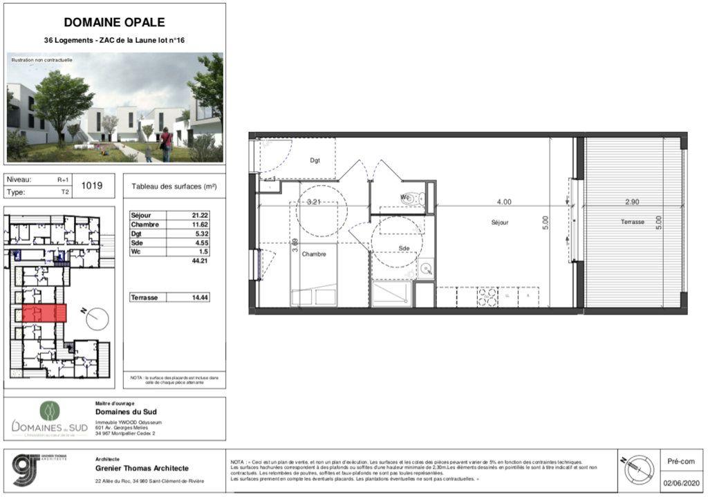 Appartement à vendre 2 44m2 à Marsillargues vignette-4