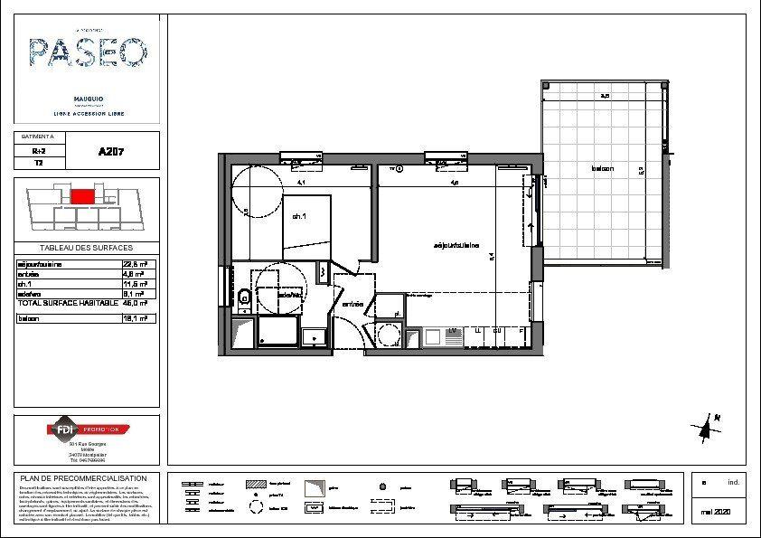Appartement à vendre 2 45m2 à Mauguio vignette-2