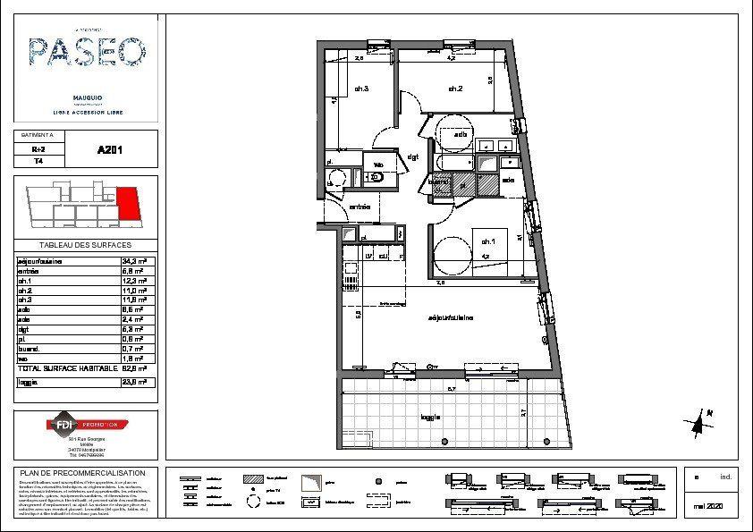 Appartement à vendre 4 93m2 à Mauguio vignette-2