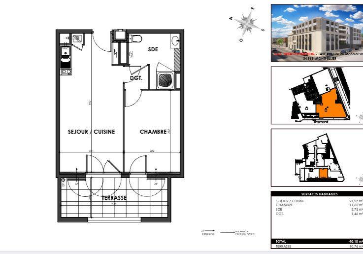 Appartement à vendre 2 40.1m2 à Nîmes vignette-2