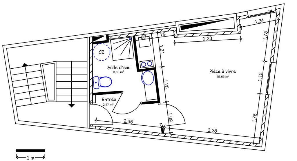 Appartement à louer 1 21.83m2 à Limoges vignette-1
