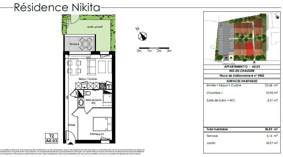 Appartement à louer 2 38.89m2 à Biscarrosse vignette-2