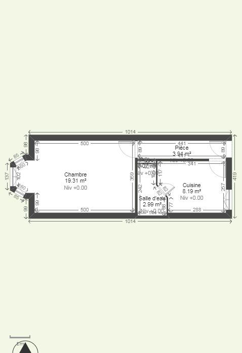 Appartement à louer 1 34.47m2 à Reims plan-1