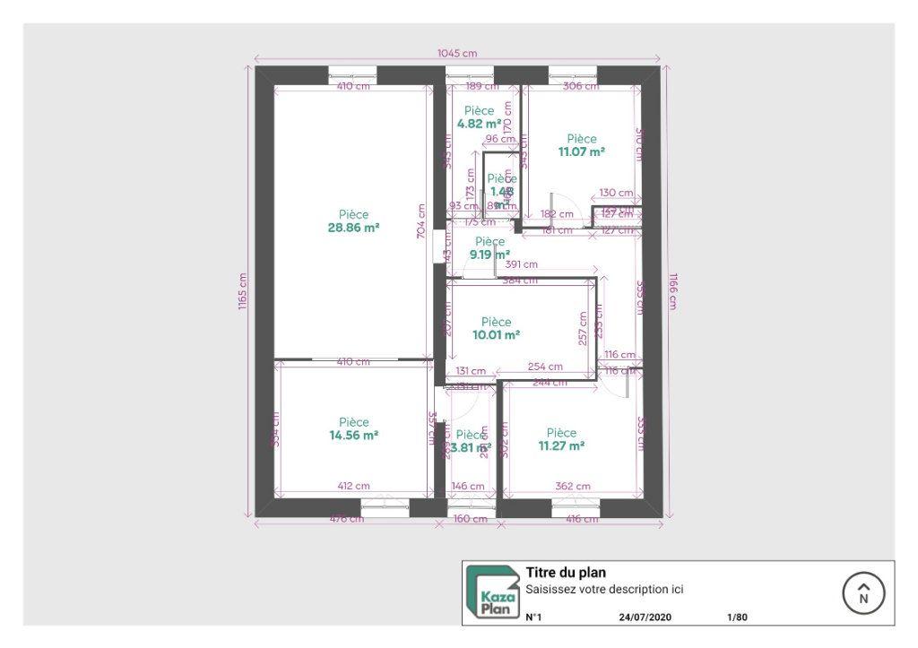 Appartement à louer 3 82.6m2 à Reims plan-1