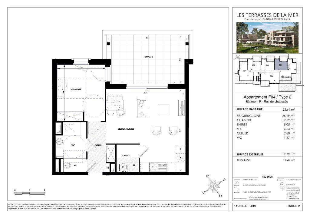 Appartement à vendre 2 52.65m2 à Saint-Mandrier-sur-Mer vignette-3