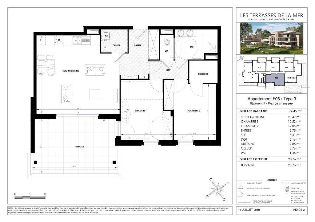 Appartement à vendre 3 74.41m2 à Saint-Mandrier-sur-Mer vignette-3