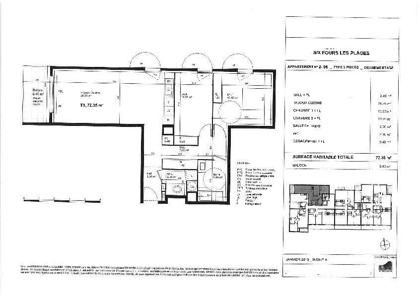Appartement à vendre 3 72.35m2 à Six-Fours-les-Plages vignette-3