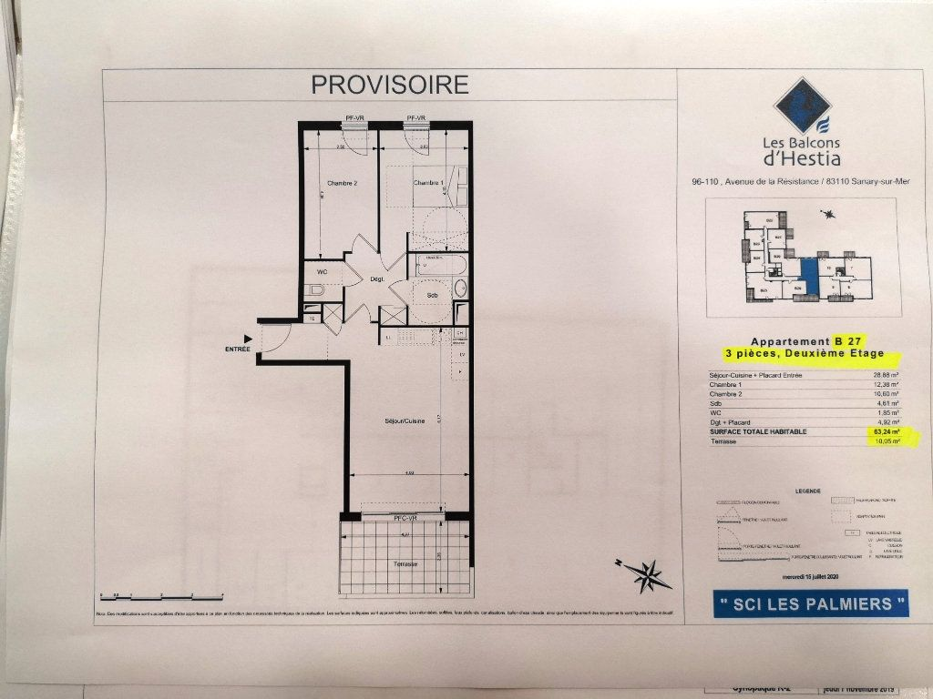 Appartement à vendre 3 63.3m2 à Sanary-sur-Mer vignette-2