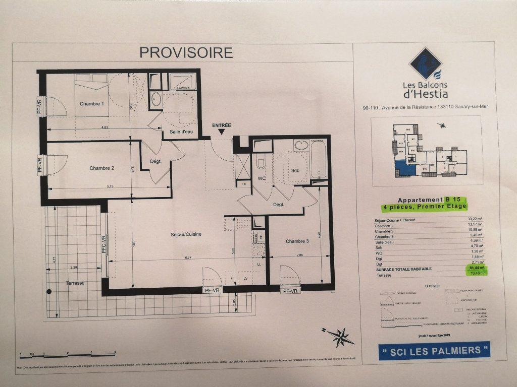 Appartement à vendre 3 82m2 à Sanary-sur-Mer vignette-2