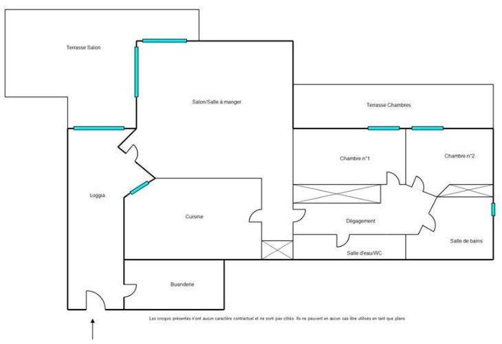 Appartement à vendre 3 84.12m2 à Mandelieu-la-Napoule plan-1