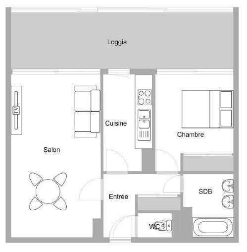 Appartement à vendre 2 46.44m2 à Mandelieu-la-Napoule plan-1
