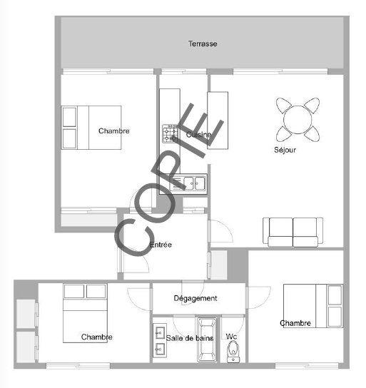 Appartement à vendre 4 77.87m2 à Mandelieu-la-Napoule plan-1