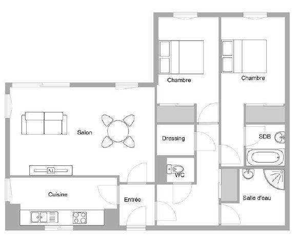 Appartement à vendre 3 71.59m2 à Mandelieu-la-Napoule plan-1